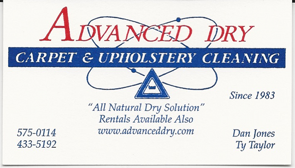 Business Card Adcc Dan Advanced Dry Carpet Cleaning