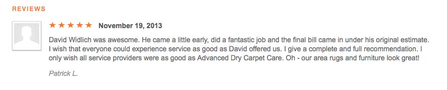 Thumbtack Carpet Cleaning Reviews