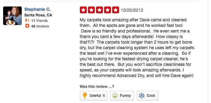 Yelp_Review_3 Santa Rosa Carpet Cleaning