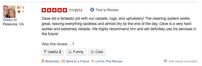 San Rafael Carpet Cleaning Review Yelp